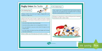 Rugby Laws Tackle Card - Rugby, PE, Law, Laws, Cards