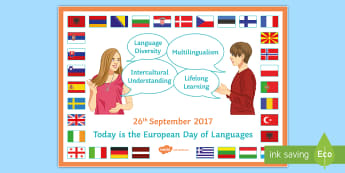 European Day of Languages Promotion A4 Display Poster