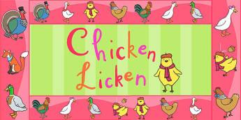 Chicken Licken Display Borders - story, stories, story display