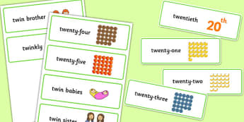 Three Syllable TW Word Cards - sen, sound, special educational needs, tw, word cards