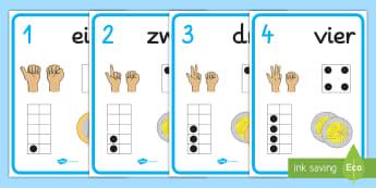 Zahlen 1-30 mit Illustrationen Poster für die Klassenraumgestaltung  - Zahlenreihenfolge, Zahlen lernen, Visuelle Lernhilfe, Lernhilfe, lernen, zahlen, zählen,German