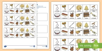 Making Different Sounds Activity Sheet - worksheet, ACSHE022, Science as a Human Endeavour, Use and influence of science, ACSSU020, musical i