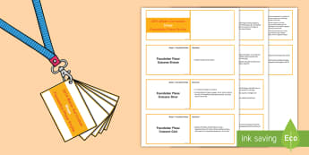 Lanyard Sized Foundation Phase Profile Shape Skills Ladder Cards - Lanyard Foundation Phase Outcomes, Skills ladders, Foundation Phase Profile, Foundation Profile, FPP
