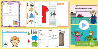 Childminder Clothes EYFS Resource Pack - clothing, wear, wearing, child minder, childminding