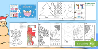Christmas Paper Craft Activity Pack - December, celebrate, make, create, creative, Desember, kreatief, EAL