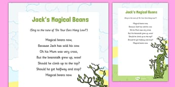 Jacks Magic Beans Song - Jack, Jack and the Beanstalk, beanstalk, nursery rhymes, rhyme