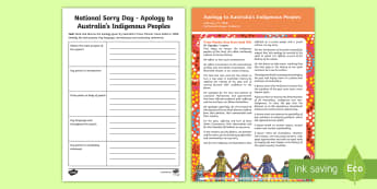 National Sorry Day Apology Analysis Activity Sheet - Australia English National Sorry Day, 26 May, Year 3, Year 4, Year 5, Year 6, source analysis. ,Aust