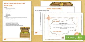 Secret Treasure Maps Resource Pack - EYFS Water, pirates, map, treasure, treasure chest, treasure map, gold