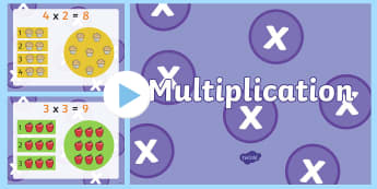 Multiplication PowerPoint - New Zealand, maths, multiplication, powerpoint, Year 3, age 7, age 8, groups of, grouping, multiply,