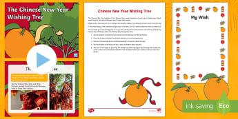 Chinese New Year Wishing Tree Resource Pack - chinese new year, wishing tree, festivals, understanding the world, UtW
