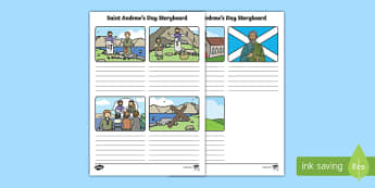 KS1 Saint Andrew's Day Storyboard Template