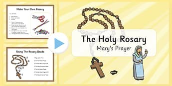 Month of the Holy Rosary Prayer PowerPoint - the rosary, pray, rosary, christianity, religion, catholic