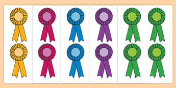 Editable Award Rosettes - Reward, rosette, plaque, medal, rewards, school reward, medal, good behaviour, award, good listener, good writing, good reading