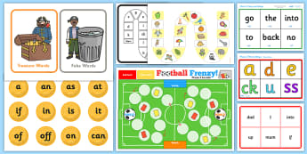Phase 2 Phonics Games Activity Pack - letters and sounds, phase 2, phonics, phonics games