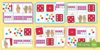 Subitizing Numbers to 10 Bingo - Editable Bingo and Lotto Game - editable, bingo, lotto, game, editble, edidable