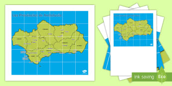 Tapiz de Bee Bot:  Las comarcas de Andalucía  - Mapas, provinicias, mapas mudos, mapas en blanco, las ciudades de españa, comarcas, concejos, comun