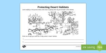 Protecting Desert Habitats Activity Sheet - ACSHE022, environment, Simpson desert, Great Sandy desert, science human endeavour, Sustainable,Aust
