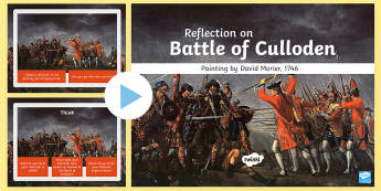 The Battle of Culloden Painting Activity PowerPoint - CfE Social Studies resources, social studies lessons, Battle of Culloden, Culloden resources, Battle