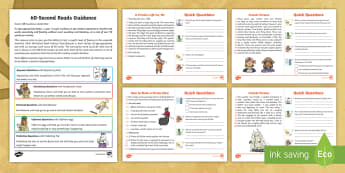 60-Second Reads: Pirates Activity  Cards - 90 Words A Minute, Ninety Words, Reading, Guidance, Year 2, Y2, One Minute Reading
