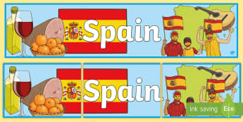 Spain Display Banner - Spain, Olympics, Olympic Games, sports, Olympic, London, 2012, display, banner, sign, poster, activity, Olympic torch, flag, countries, medal, Olympic Rings, mascots, flame, compete, events, tennis, athlete, swimming