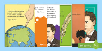 Dylan Thomas Quotes Card Pack