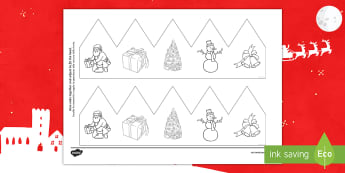 Christmas Pictures Party Hat Template Activity English/Italian - Christmas, Nativity, Jesus, xmas, Xmas, Father Christmas, Santa, EAL