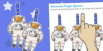 Writing Finger Spacers (Astronaut) - Finger spacers, finger space, writing aid, astronaut, sentence structure, finger, space, writing space, space aid, finger space aid, kindergarten