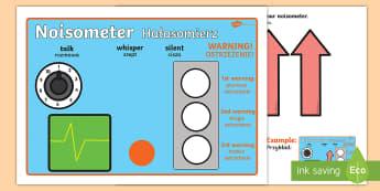 Noisometer English/Polish - The Noisometer - Noise, level of noise, behaviour management, inside voices, quiet, class management