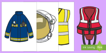 Pieces of Uniform Display Cut-Outs - Clothes, Jobs, Occupations, Understanding of the World, People and Communities, People who help us,