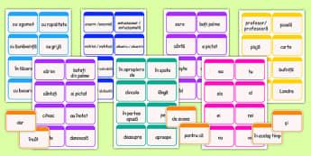 Părți de vorbire - Cartonașe - părți de vorbire, cartonașe, substantiv, adjectiv, verb, pronume, parte de vorbire, materiale, materiale didactice, română, romana, material, material didactic