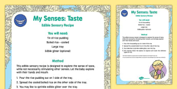 My Senses   Taste Edible Sensory Recipe