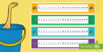 Number Lines 0-10 to Support Teaching on Harry and the Bucketful of Dinosaurs - numeracy