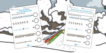 The Snow Queen Up to 20 Addition Sheet - Worksheets, Adding