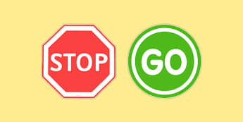 Stop and Go! Road Signs - stop, go, road, signs, road signs, stop and go, pe, pd, physical