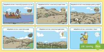 Matiau Toes Dameg yr Heuwr - sower, seeds, parable, dameg, heuwr, mat, toes, playdough,Welsh