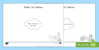 Student-Led Conference Mind Map Activity - reports, managing self, conferences, new zealand, goals, progress, updates, goal setting