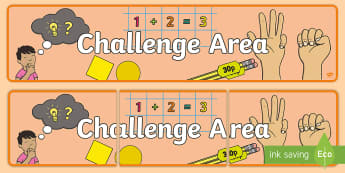 Challenge Area Display Banner - classroom display, fast finishers, Extra challenge, classroom set up, today's challenge, Scottish