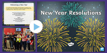 New Year Resolutions Information PowerPoint - new years, resolutions, new years day, new year resolution