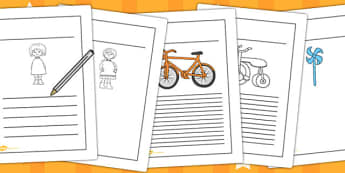 Writing Frames to Support Teaching on Titch - writing template, writing aid, write