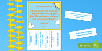 Kindness Week 'Kind Thoughts' Tear-Off Strip Display Poster - Twinkl Kindness Week, kindness, Kind Week, random acts of kindness