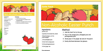 Elderly Care Easter Non-Alcoholic Drink Recipe - Elderly, Reminiscence, Care Homes, Easter
