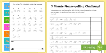 The Fingerspelling Challenge Activity - Deaf Awareness Week  UK (2.5.17)