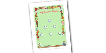 Lunchtime Themed Sticker Reward Chart 15mm - lunchtime, lunchtime reward chart, lunch reward chart, sticker reward chart, lunch sticker reward chart