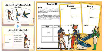 Ancient Egyptian Gods Information Cards Teaching Pack - teaching, pack