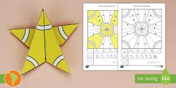 Manualidad: Origami de la estrella de Navidad - origami de la estrella, estrella de Navidad, decoración del salón, español