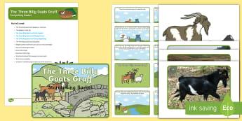 The Three Billy Goats Gruff Storytelling Basket - EYFS, story, reading, literacy, books, reading area, reading buddies, story props