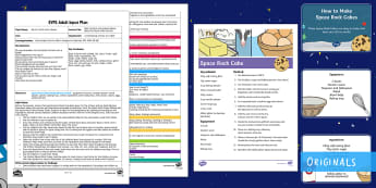 EYFS Space Baking Fine Motor Skills Activity Adult Input Plan and Resource Pack - Back to earth with a Bump, Twinkl Originals, EYFS, Early Years Planning, Foundation, Adult Led, Spac