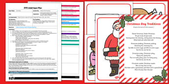 Christmas Day Traditions EYFS Adult Input Plan and Resource Pack