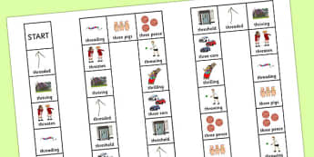 Two Syllable THR Board Game - speech sounds, phonology, articulation, speech therapy, cluster reduction