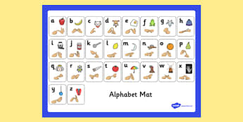Alphabet Mat with British Sign Language Fingerspelling